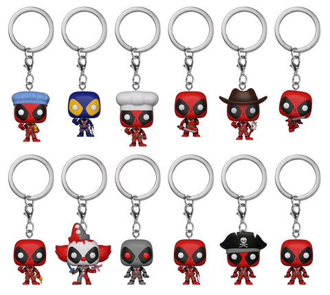 Deadpool - Pocket Pop! Keychains: Case Of 24 Blind Bags - Pre-Order