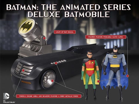 Batman: The Animated Series - Deluxe Batmobile & Figure Set - Pre-Order