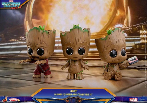 Guardians of the Galaxy: Vol. 2 -  Groot Cosbaby Bobble Head Figure Set