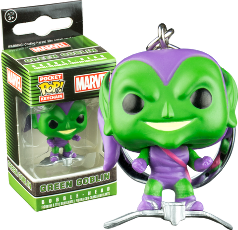 Spider-Man - Green Goblin on Glider Pocket! Pop Vinyl Keychain