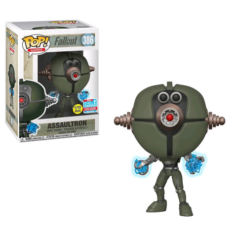 Fallout - Assaultron Invader Glow NYCC 2018 Exclusive Pop! Vinyl Figure - Pre-Order