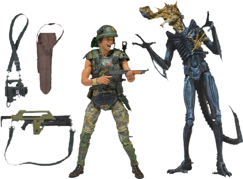 "Aliens - 7"" Hicks vs Blue Warrior Alien 2-Pack"
