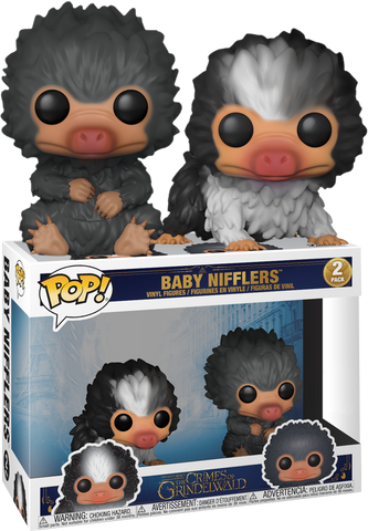 Fantastic Beasts 2: The Crimes Of Grindelwald - Baby Nifflers Black and Grey Pop! Vinyl Figure 2-Pack