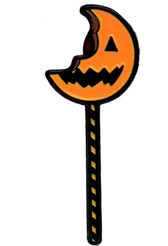 Trick R Treat - Bitten Lollipop Enamel Pin - Pre-Order