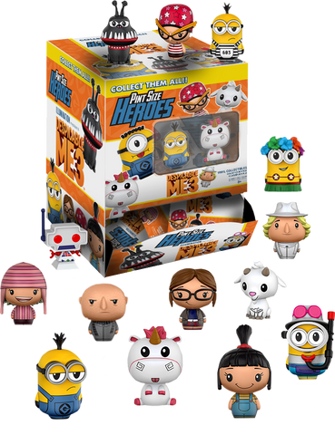 Despicable Me 3 - Toys R Us Exclusive Pint Size Heroes Mystery Mini Blind Bags Case of 24 Figures