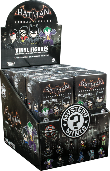 Batman: Arkham Series - Gamestop Exclusive Mystery Mini Blind Box Case of 12 Figures