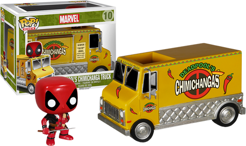Deadpool - Deadpool with Chimichanga Truck Pop! Rides Vinyl Figure