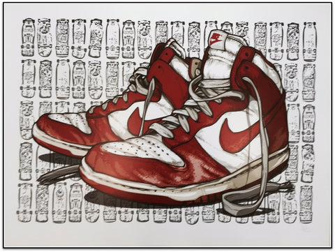 The Sneaker Art of Daymon Greulich - Sneaker Dunk Limited Edition Print