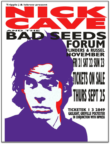 Nick Cave & The Bad Seeds - The Forum, Melbourne 2003 Limited Edition Print
