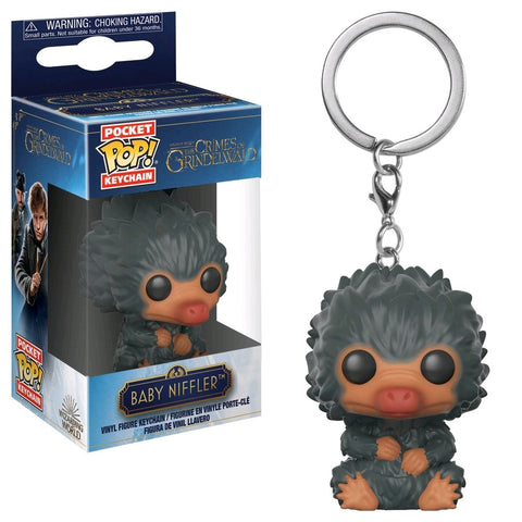 Fantastic Beasts 2: The Crimes Of Grindelwald - Baby Niffler Grey Pocket Pop! Keychain - Pre-Order