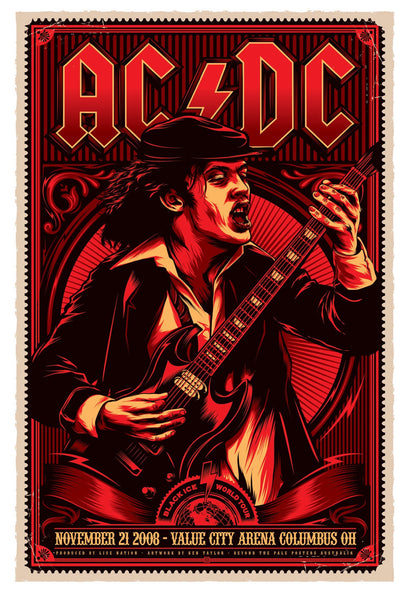 AC/DC - November 21st 2008, Ohio USA Limited Edition Print