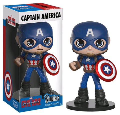 Captain America: Civil War - Captain America Wobbler Bobble Head