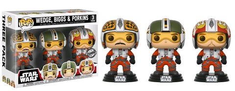Star Wars - Red Squadron: Wedge, Biggs & Porkins Pop! Vinyl 3 Pack - Pre-Order