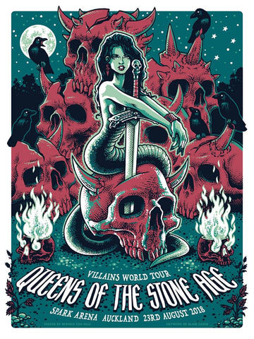 Queens Of The Stone Age - Auckland NZ 2018 Limited Edition Print
