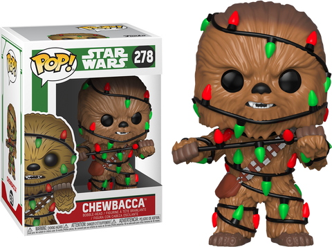 Star Wars - Chewbacca with Lights Holiday Pop! Vinyl Figure - Pre-Order