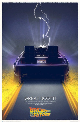 Back to the Future - Great Scott Limited Edition Print