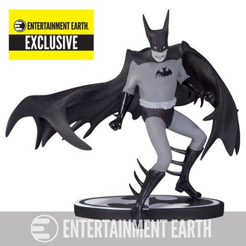 Batman Black & White Statue by Tony Millionaire - Entertainment Earth Exclusive