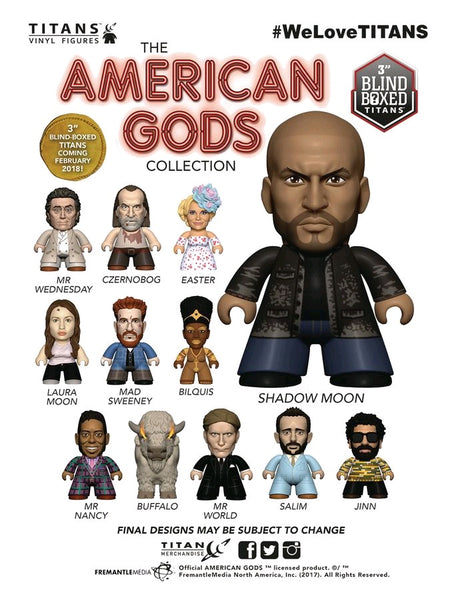 American Gods - Titans Mystery Mini Blind Box Case of 18 Figures - Pre-Order