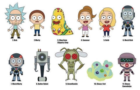 Rick and Morty - 3D Figural Keychain Mystery Blind Bags - Pre-Order