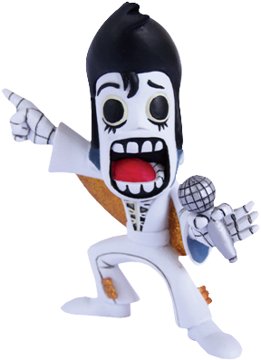 Calaveritas Day of the Dead - Vegas Elvis Figure