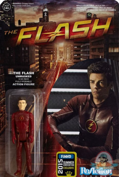 The Flash - TV Series Flash Unmasked ReAction Figure - SDCC Exclusive