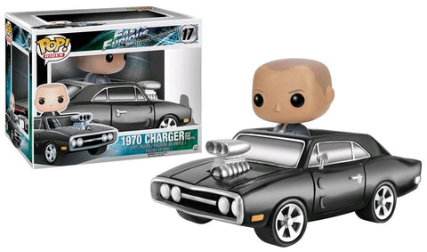 Fast & Furious - Dom Toretto with 1970 Dodge Charger Pop! Ride Vinyl Figure