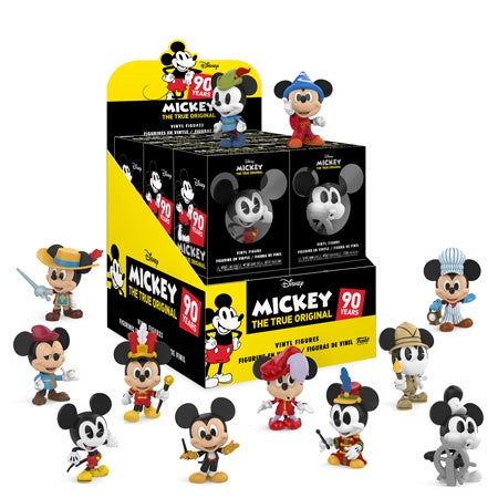 Mickey Mouse - 90th Anniversary Mystery Minis: Case Of 12 Blind Boxes - Pre-Order