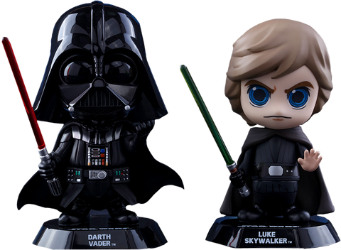 "Star Wars - Luke Skywalker & Darth Vader Cosbaby 3.75"" Hot Toys Figure 2-Pack"