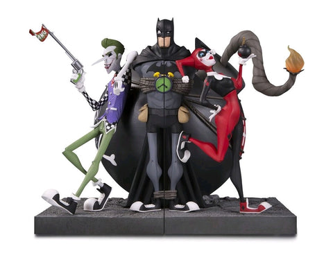 Batman - DC Gallery Joker & Harley Quinn Bookends