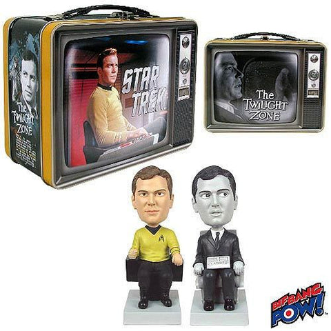 Star Trek / The Twilight Zone - The Captain and The Passenger Monitor Mates/Bobble Heads - Convention Exclusive