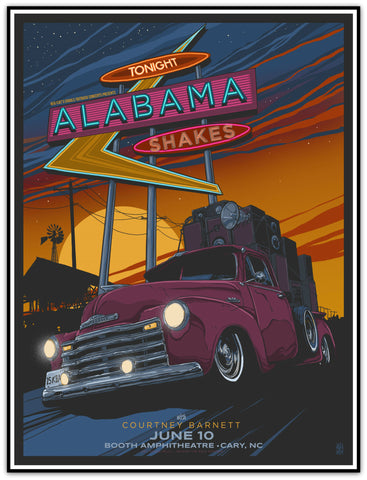 Alabama Shakes & Courtney Barnett Limited Edition Print