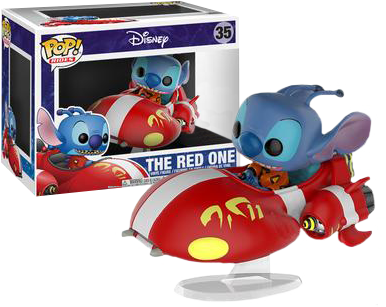 Lilo & Stitch - The Red One with Stitch Pop! Vinyl Figure Ride - Pre-Order