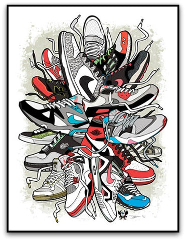 The Sneaker Art of Daymon Greulich - Sneaker Burst Limited Edition Print