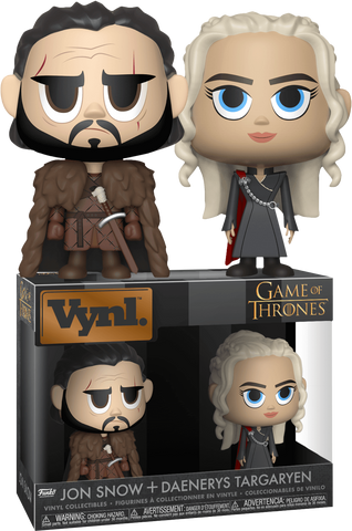 Game of Thrones - Jon Snow & Daenerys Targaryen Vynl. Vinyl Figure 2-Pack