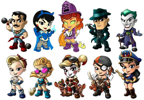 DC Bombshells - Lil' Bombshells Series 3 Mystery Mini Figures: Case of 12 Blind Boxes - Pre-Order