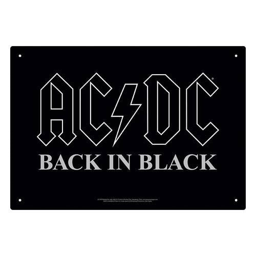AC/DC Back In Black Tin Sign