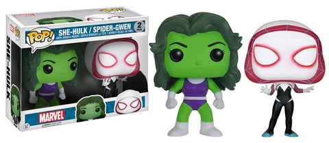 Marvel - She-Hulk & Spider-Gwen US Exclusive Pop! Vinyl 2-Pack