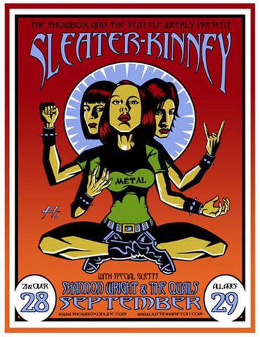 Sleater Kinney - Seattle 2002 Limited Edition Print