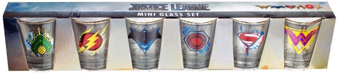 Justice League (2017) - Logo Shot Glass (Set of 6) - Pre-Order