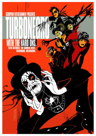 Turbonegro - Corner Hotel, Melbourne 2005 Limited Edition Print