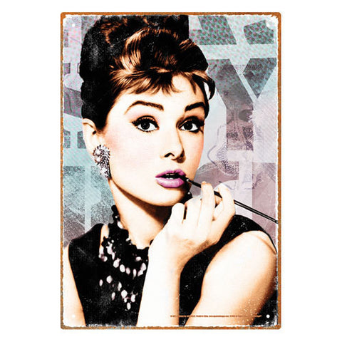 Breakfast at Tiffany's - Audrey Hepburn Close Up Tin Sign
