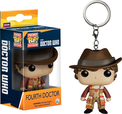 Doctor Who - 4th Doctor Pocket Pop! Keychain