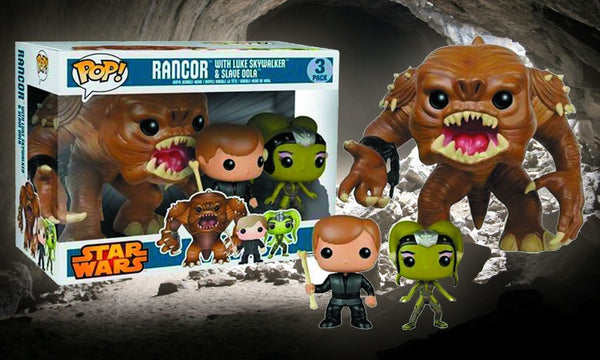 "Star Wars - Rancor 6"" with Luke Skywalker and Slave Oola US Exclusive Pop! Vinyl Figure 3-pack"