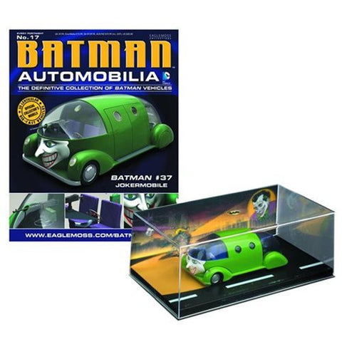 Batman - Batman Comic #37 Jokermobile Die-Cast Metal Vehicle with Magazine