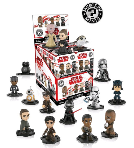 Star Wars Episode VIII: The Last Jedi - Gamestop US Exclusive Mystery Minis - Case of 12 Blind Boxes - Pre-Order