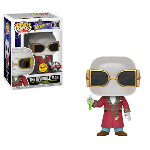 Universal Monsters - The Invisible Man Pop! Vinyl Figure: Case of 6 with a Chase - Pre-Order
