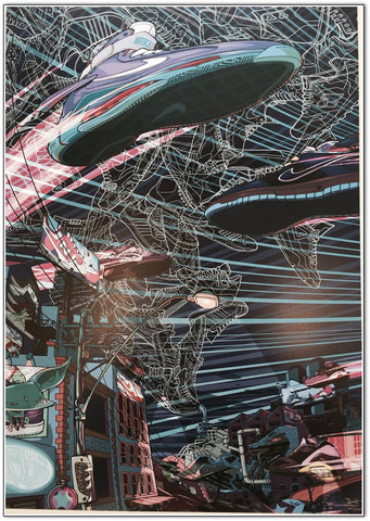 The Sneaker Art of Daymon Greulich - Night Walker Limited Edition Print