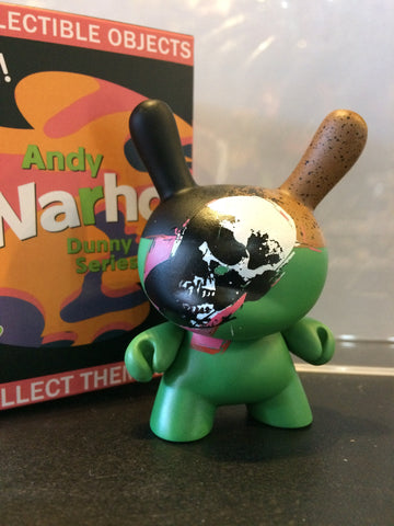 Dunny - Andy Warhol Series 2 - Loose Mystery Mini Dunny Figure: Skull