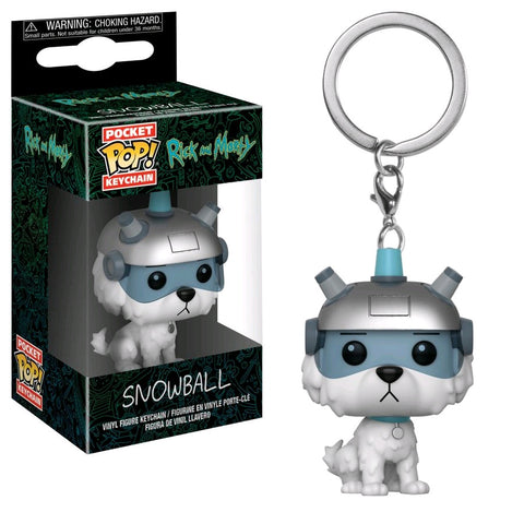 Rick and Morty - Snowball Pocket Pop! Keychain - Pre-Order