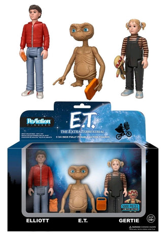 "E.T. - Elliott, Gertie & E.T. 3.75"" ReAction Figure 3-Pack"
